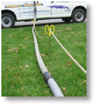 Carpet Cleaning Yardstick for Solution hose
